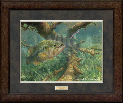 <I>Tight To Cover&mdash;largemouth Bass</i> Gna Premium+ Framed Print<Br/>29H X 35W Art Collection