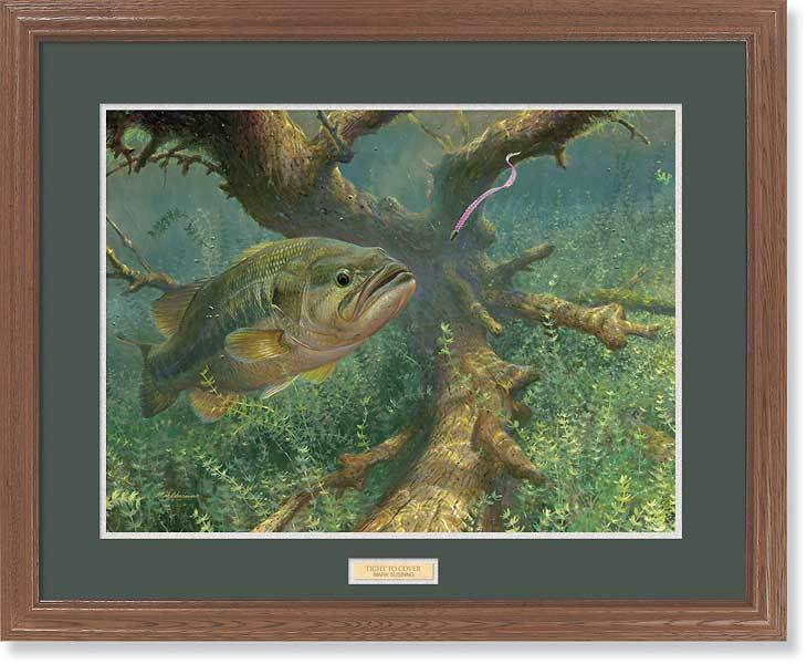 <I>Tight To Cover&mdash;largemouth Bass</i> Gna Premium Framed Print<Br/>25H X 31W Art Collection