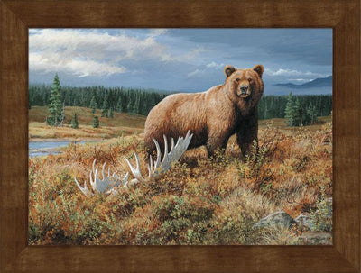 <I>Autumn Splendor&mdash;grizzly</i> Framed Studio Canvas<Br/>22H X 29W Art Collection