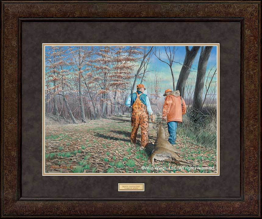 <I>Pals Iv; Thanks Dad&mdash;hunters</i> Gna Premium+ Framed Print<Br/>29H X 35W Art Collection