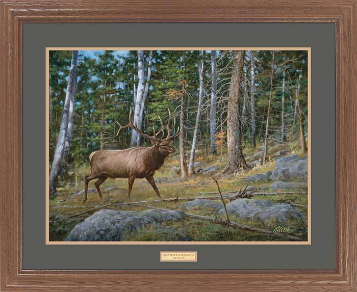 <I>Deep Woods Monarch&mdash;elk</i> Gna Premium Framed Print<Br/>25H X 31W Art Collection