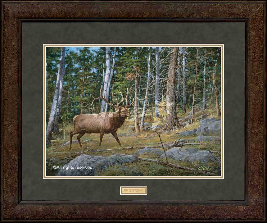<I>Deep Woods Monarch&mdash;elk</i> Gna Premium+ Framed Print<Br/>29H X 35W Art Collection