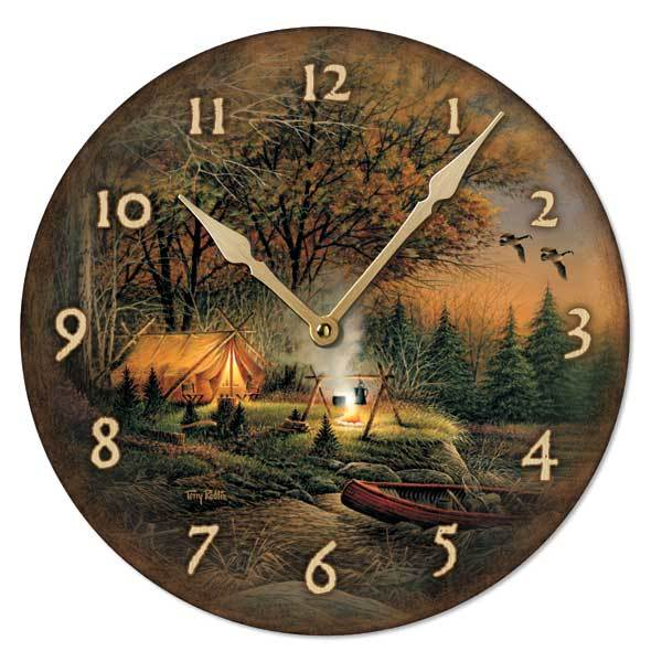 Evening Solitude 11 Round Clock