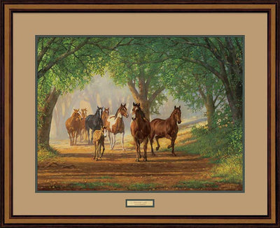 Country Lane-Horses Art Collection