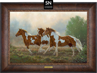 Misty Morning—Pintos;  Master Artisan Collection — Standard Numbered Edition (SN).