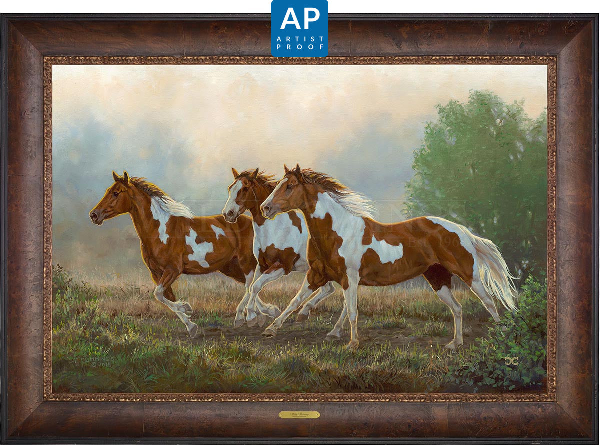 Misty Morning—Pintos;  Master Artisan Collection - Artist Proof Edition (AP)