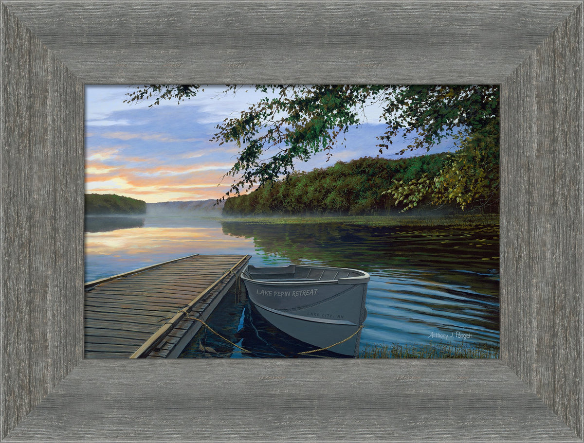 Serene Retreat Personalized Framed Canvas<Br/>17H X 21W Gallery Wrapped Canvas