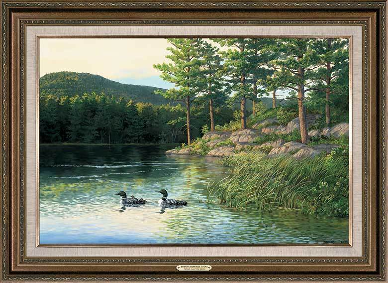 <I>Morning Memories&mdash;loons</i> Framed Gallery Canvas