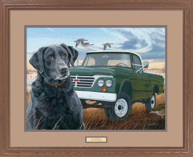 Old Dependable—Black Lab.