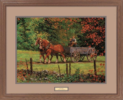 <i>Red Leaves&mdash;Horses & Wagon</i>