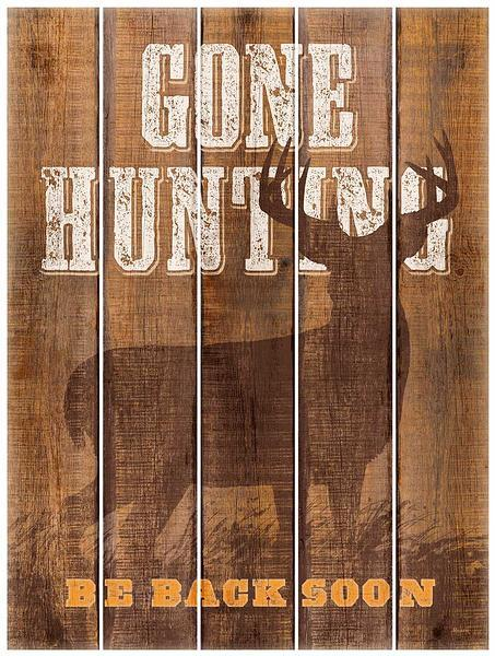 Gone Hunting 18 X 24 Pallet Art Sign