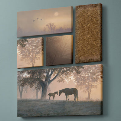 Dawn's First Light-Horses Art Collection