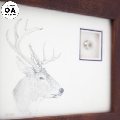 Deer with Shotgun Shell Original Artwork