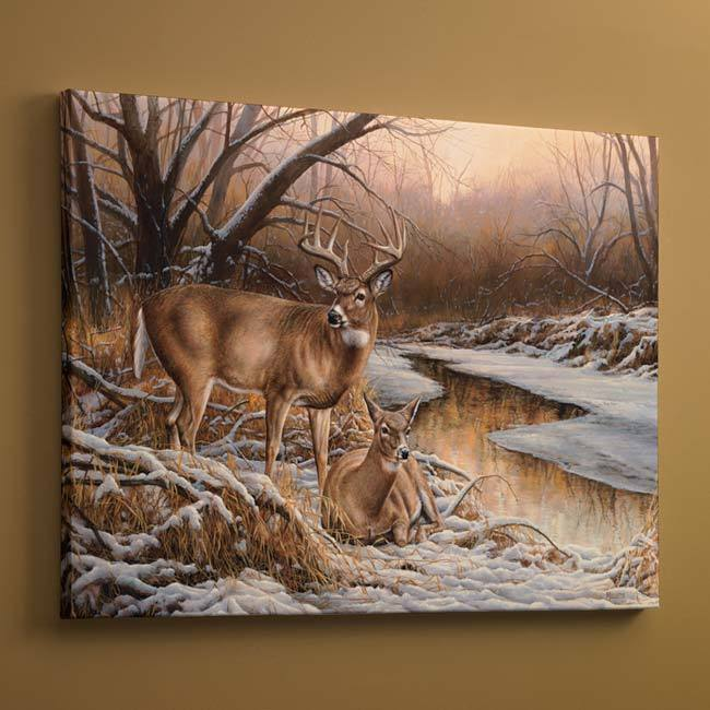 Winter Retreat—Deer.