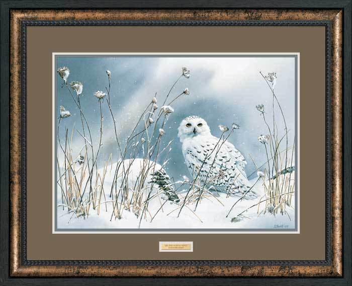 <I>On The North Wind&mdash;snowy Owl</i> Framed Artist Proof Print<Br/>30H X 37W Art Collection