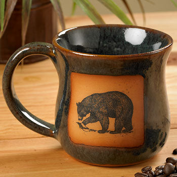 Northwoods Bear Stoneware Mugs