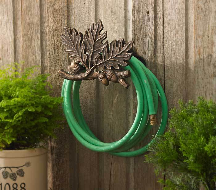 Oak Leaf Garden Hose Holder