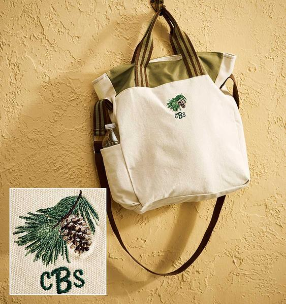 <I>Pinecone</i> Personalized Tote
