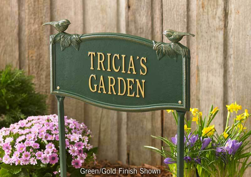 Songbird Personalized Garden Sign
