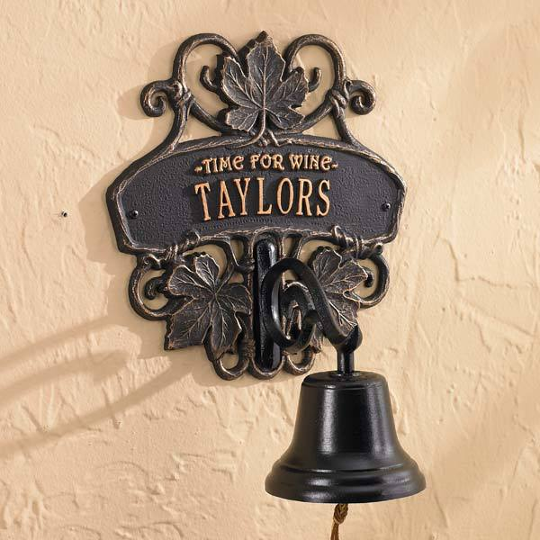 Vineyard Personalized Bell Plaque