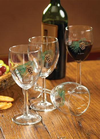 <I>Pinecone</i> White Wine Glasses