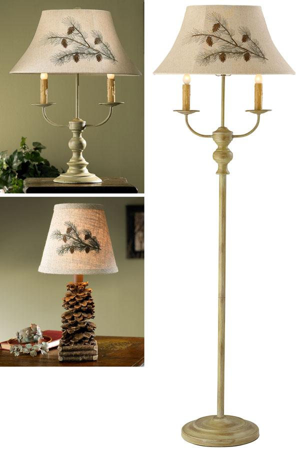Bayfield Pinecone Table & Floor Lamp