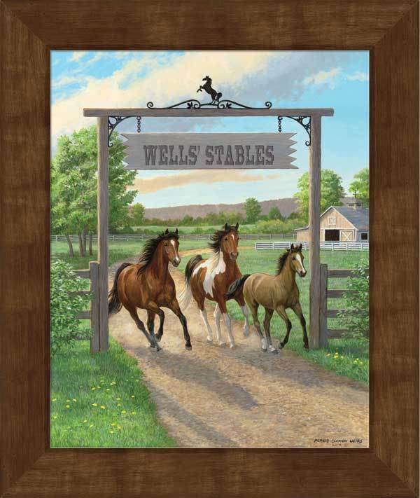 Seize The Day—horses Personalized Framed Canvas