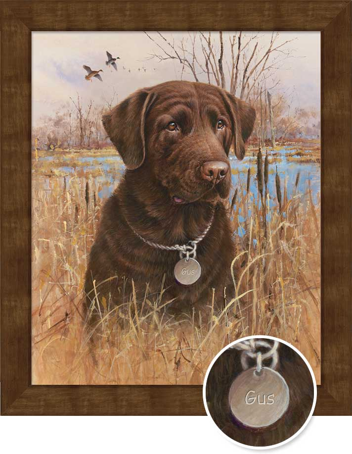 Top Dog—Chocolate Lab.