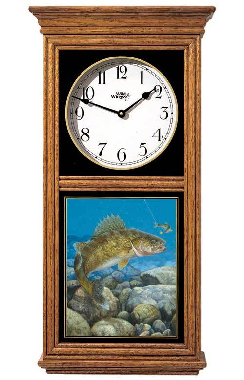 <I>Stinger Hooked Walleye</i> Regulator Clock