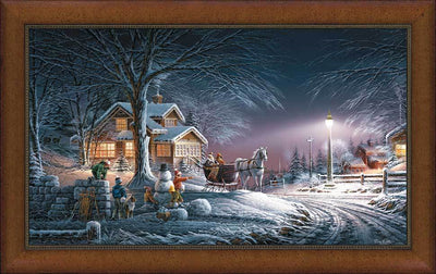 Winter Wonderland Framed Museum Canvas<Br/>29H X 45.5W Art Collection