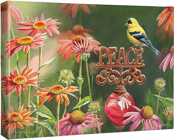 <I>A Gardeners Wish&mdash;goldfinch</i> Gallery Wrapped Canvas