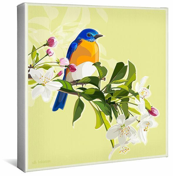 A Moment To Savor—bluebird Gallery Wrapped Canvas