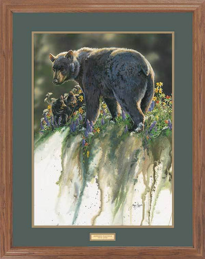 <I>Abundance&mdash;black Bears</i> Gna Premium Framed Print<Br/>31H X 25W Art Collection