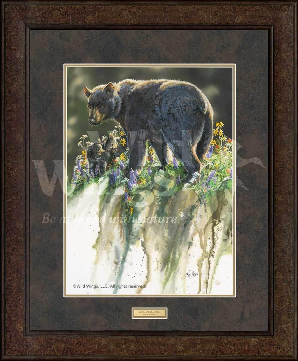 <I>Abundance&mdash;black Bears</i> Gna Premium+ Framed Print<Br/>35H X 29W Art Collection