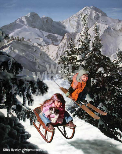 <i>Airborne&mdash;Kids Playing Winter Sports</i>