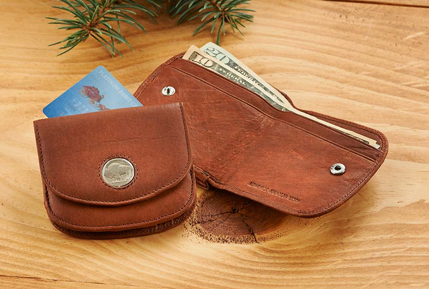 Buffalo Nickel Leather Coin Wallet