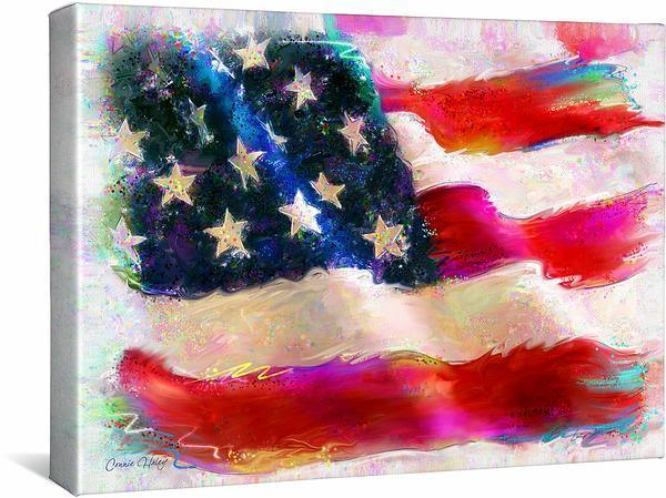 <I>American Flag</i> Gallery Wrapped Canvas
