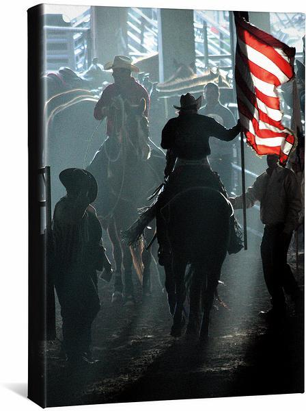 <I>American Flag&mdash;rodeo</i> Gallery Wrapped Canvas