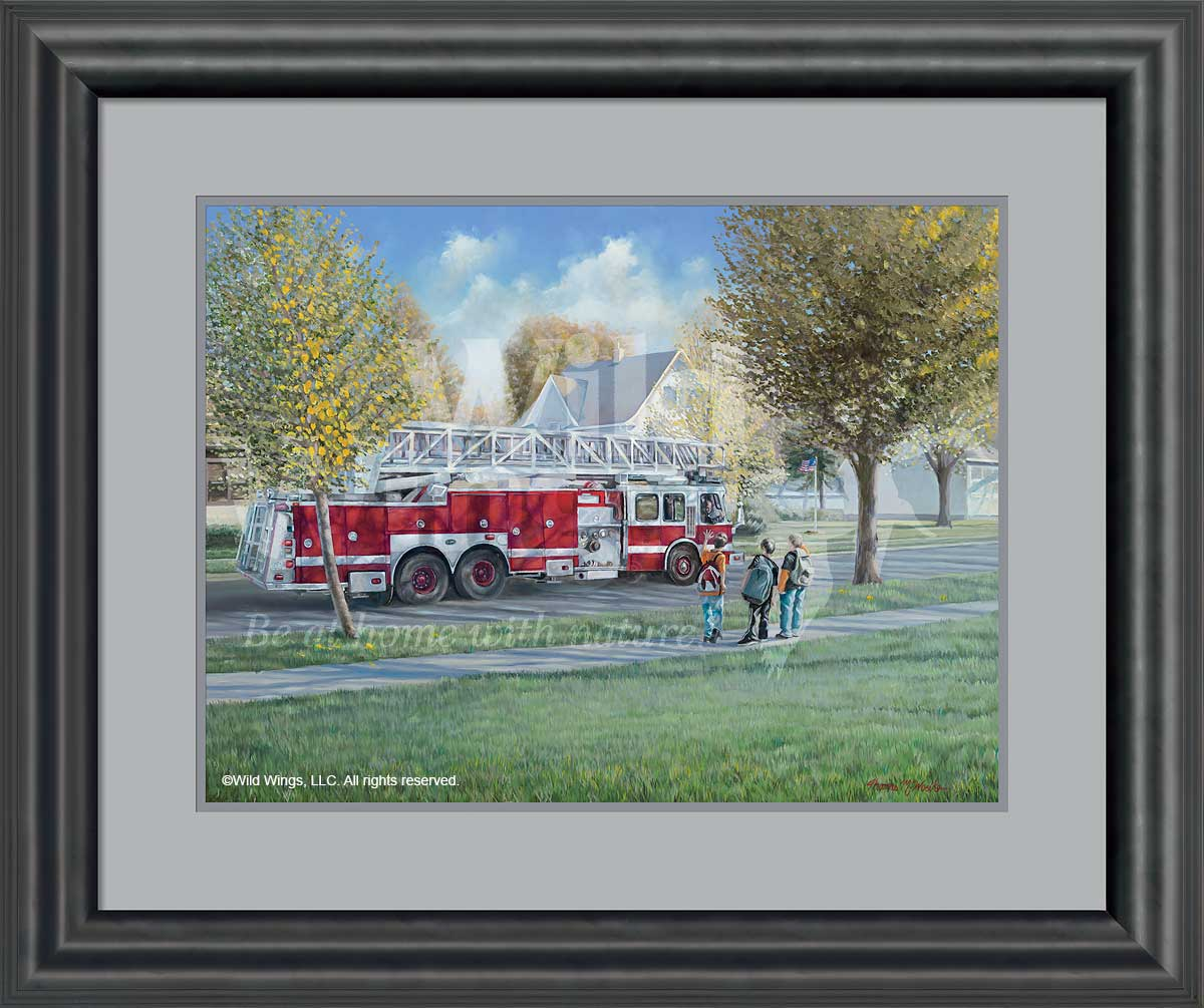 American Vignette-Fire Engine Art Collection