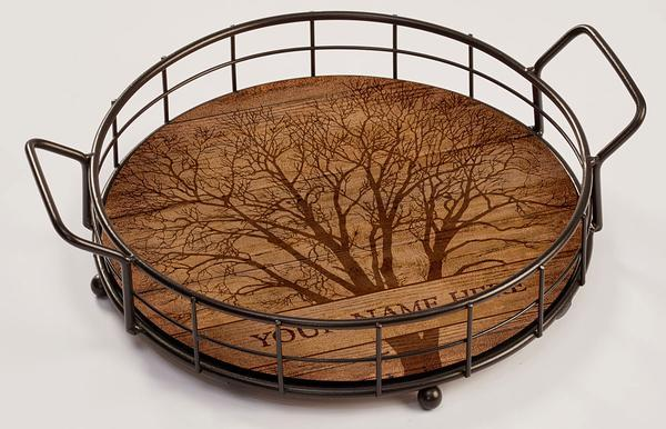 <I>Among Trees</i> Personalized Serving Tray