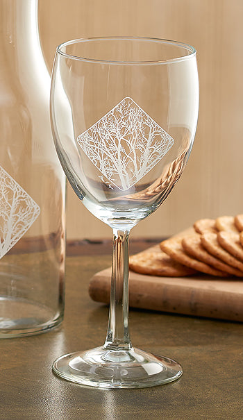 Among the Trees White Wine Glasses