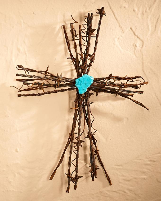 Barbed Wire Cross—Medium