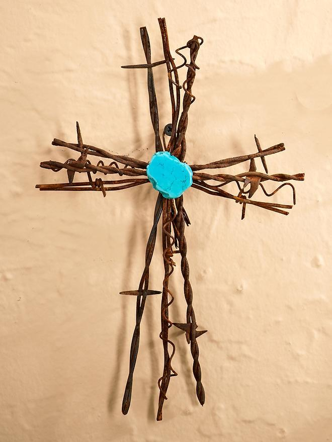 Barbed Wire Cross—Small