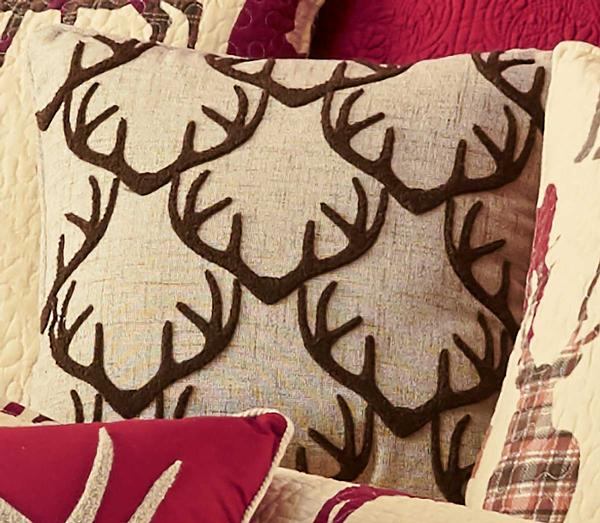 Patterned Antler Pillow