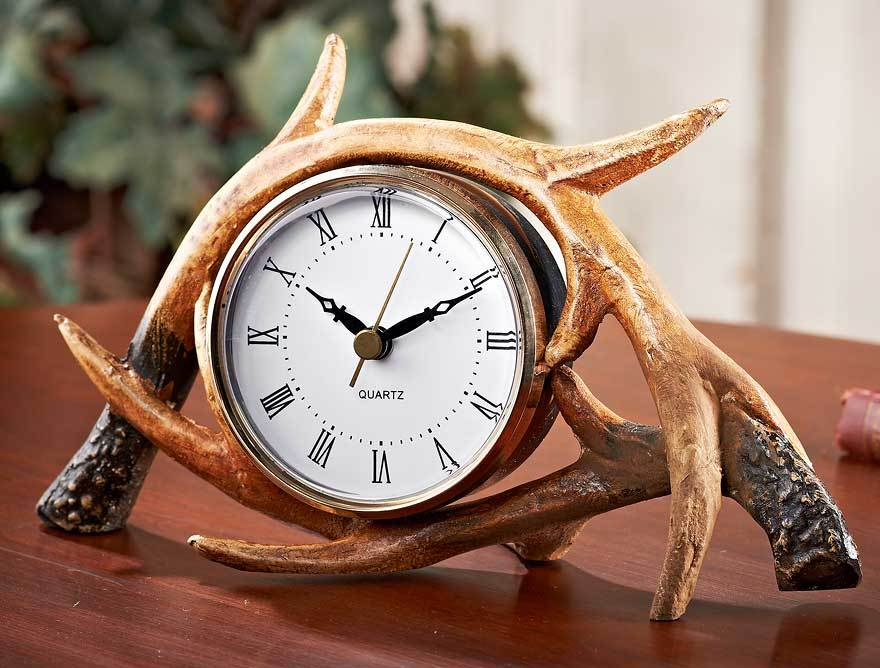 Antler Lodge Table Clock