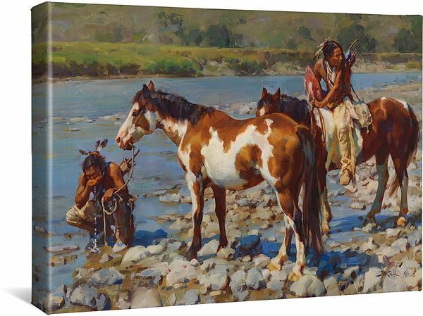 <I>At The Rivers Edge</i> Gallery Wrapped Canvas