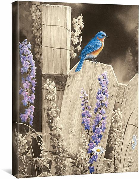 <I>Back To Nature&mdash;bluebird</i> Gallery Wrapped Canvas