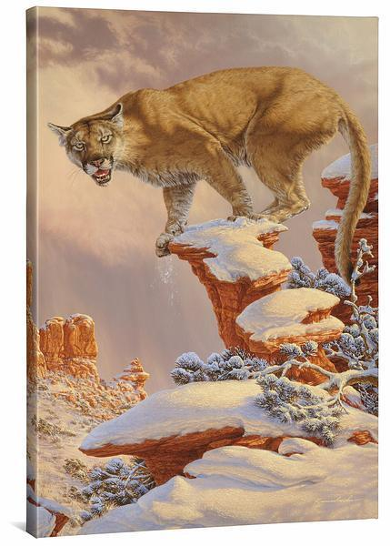 <I>Balance Rock&mdash;cougar</i> Gallery Wrapped Canvas