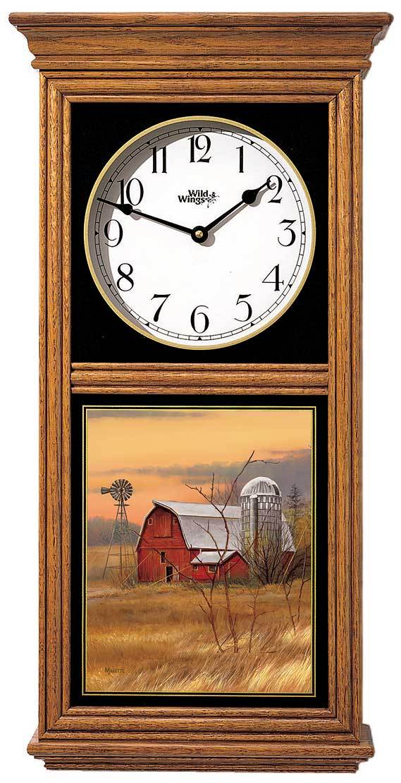 Red Barn Regulator Clock