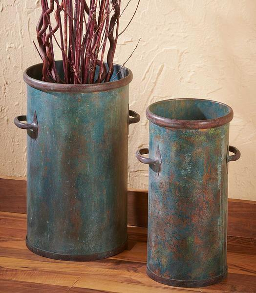 Weathered Metal Containers